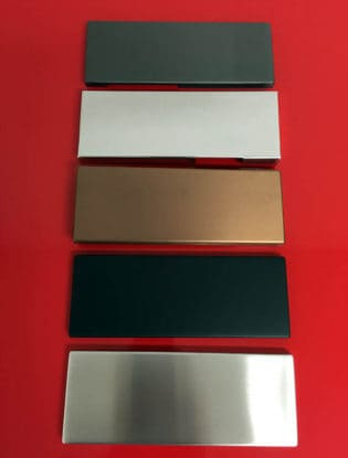 Image of auto patch pivot cover plates finish options