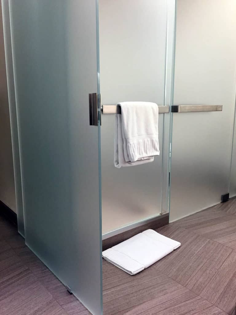 Image of custom pull handle installed for hospitality client