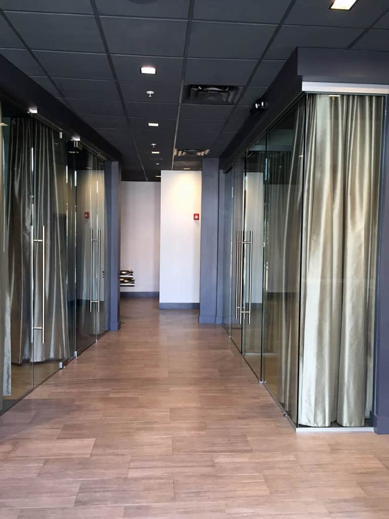Image of pureglass sliding systems installed at spa