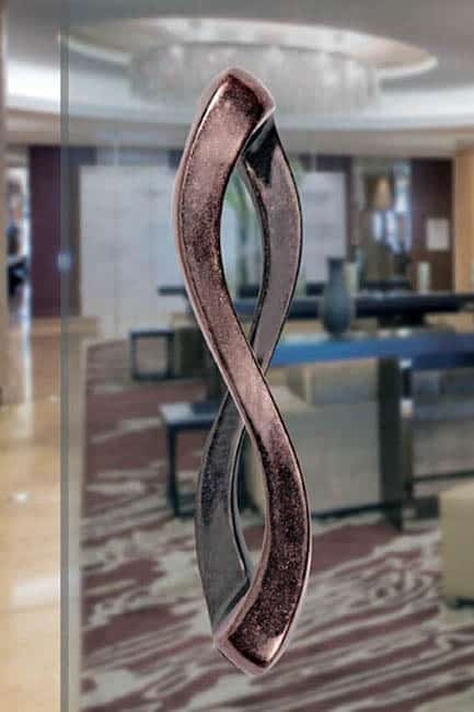 Image of custom copper pull handle for catalog