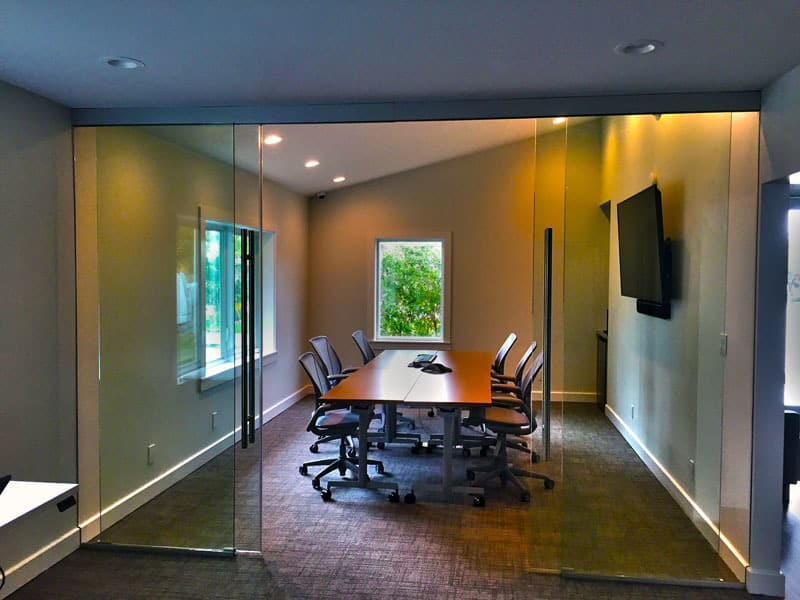image of pureglass 100 glass wall sliding door with non locking bss pull open - Sliding Glass Wall