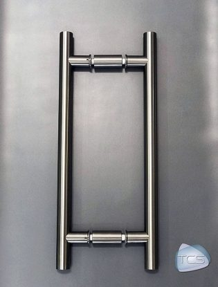 """Double-Glazed Non-Locking 24"""" Ladder Pull in BSS Finish"""
